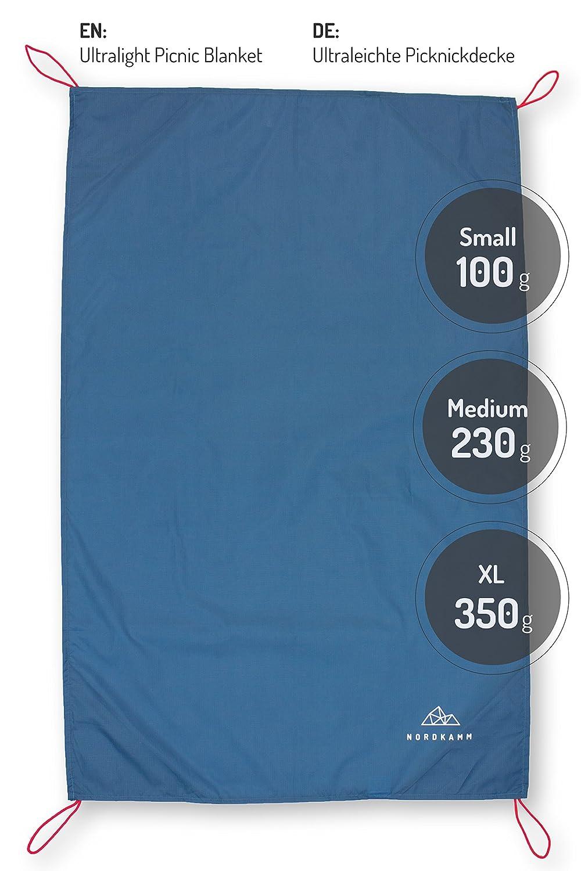 Tapis de Pique-Nique Impermeable pour lext/érieur Picnic NORDKAMM /étanche Couverture de Plage en 3 Tailles Compact Portable Waterproof Camping Couverture de Poche Pliable Ultra-l/éger
