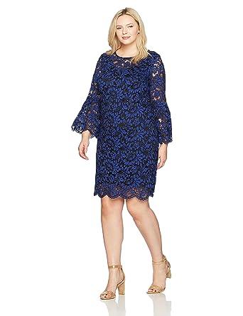 14a525a6d2e Chetta B Women s Size Bell Sleeve Lace Dress Plus at Amazon Women s ...