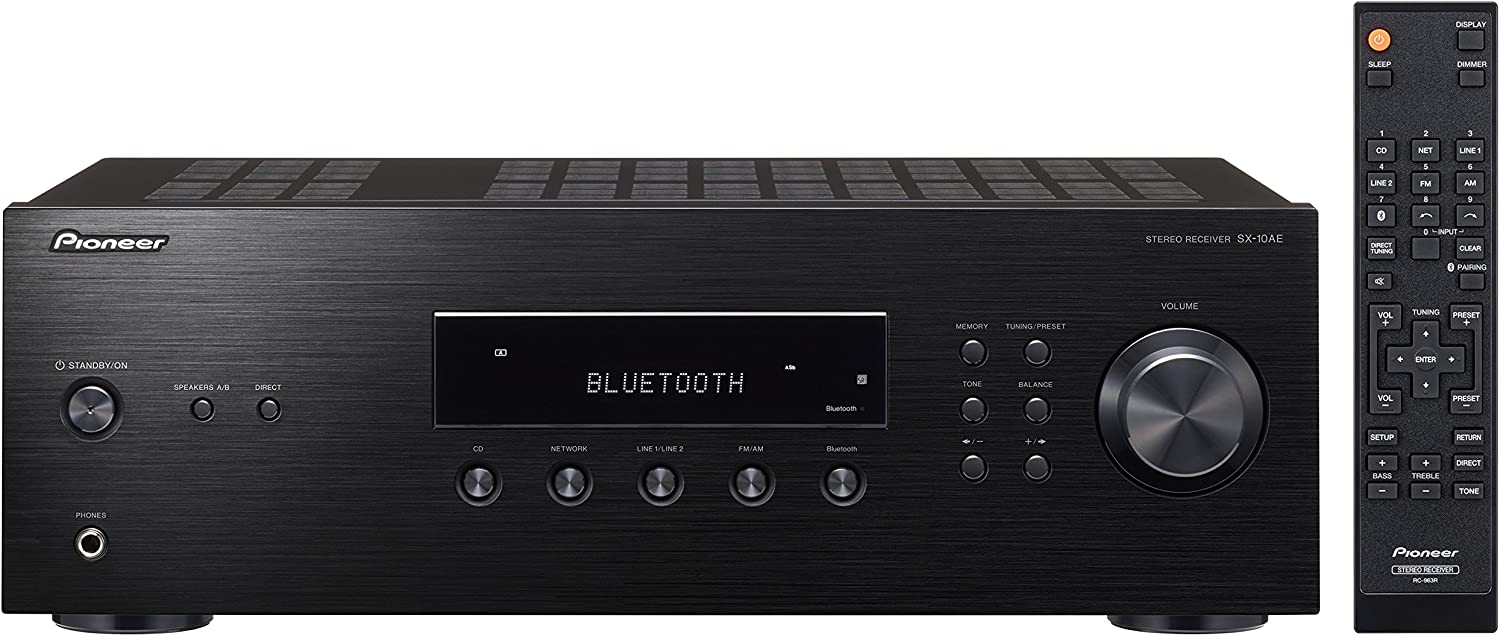 Pioneer Sx-10Ae Home Audio Stereo Receiver With Bluetooth Wireless Technology