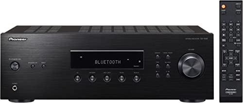 Pioneer SX-10AE Home Audio Stereo Receiver with Bluetooth Wireless Technology – Black