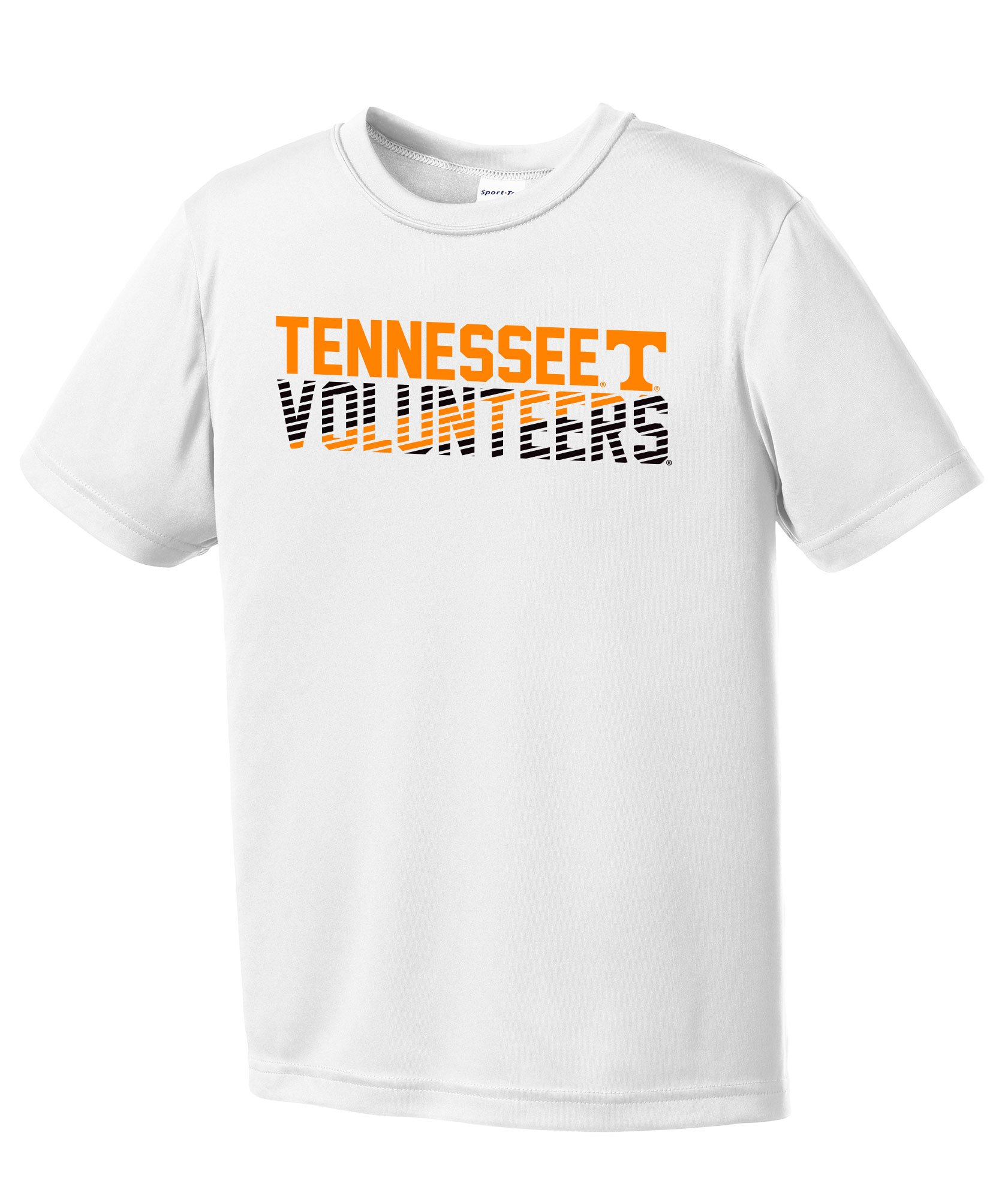 Tennessee Volunteers Diagonal Short Sleeve Polyester Competitor T Shirt