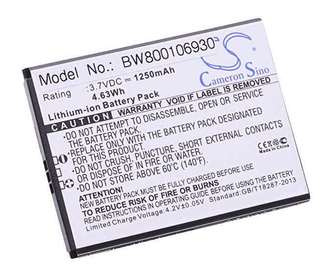 vhbw Li-Ion Batería de 1250mAh (3.7V) para teléfono móvil ...