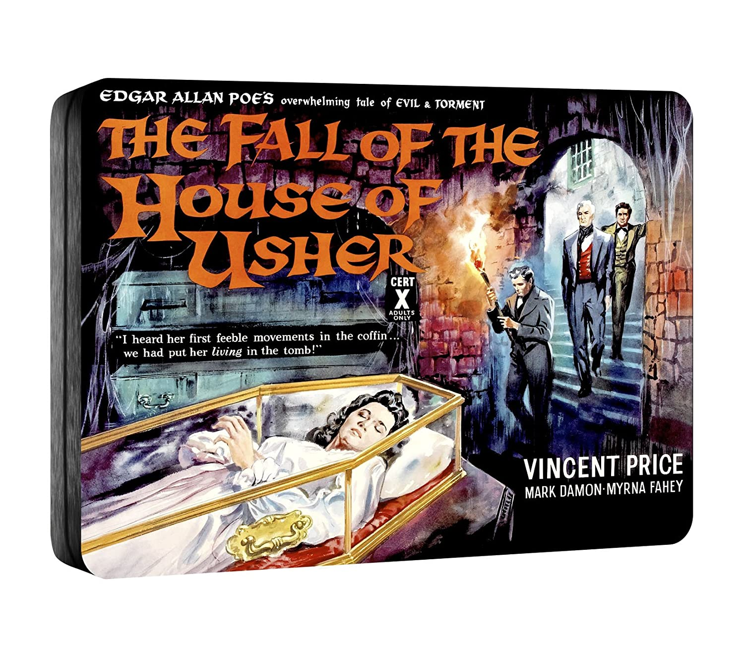 fall of the house of usher steelbook blu ray amazon co uk fall of the house of usher steelbook blu ray amazon co uk vincent price mark damon myrna fahey roger corman dvd blu ray