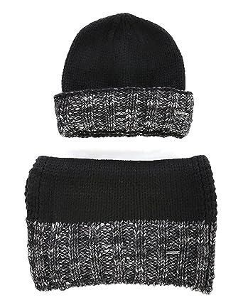 c9898a4fc12 DIESEL - - Homme - Coffret bonnet et écharpe noir et gris Kandy -Kit pour