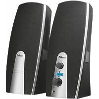 Trust Mila Enceinte PC 2.0 pour Ordinateur (10 Watt), Alimentation USB -Argent