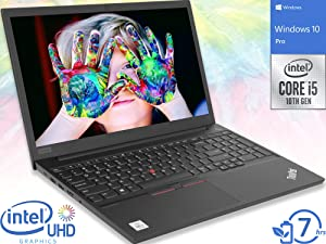 "Lenovo ThinkPad E15 Laptop, 15.6"" FHD Display, Intel Core i5-10210U Upto 4.2GHz, 16GB RAM, 512GB NVMe SSD, HDMI, Wi-Fi, Bluetooth, Windows 10 Pro"