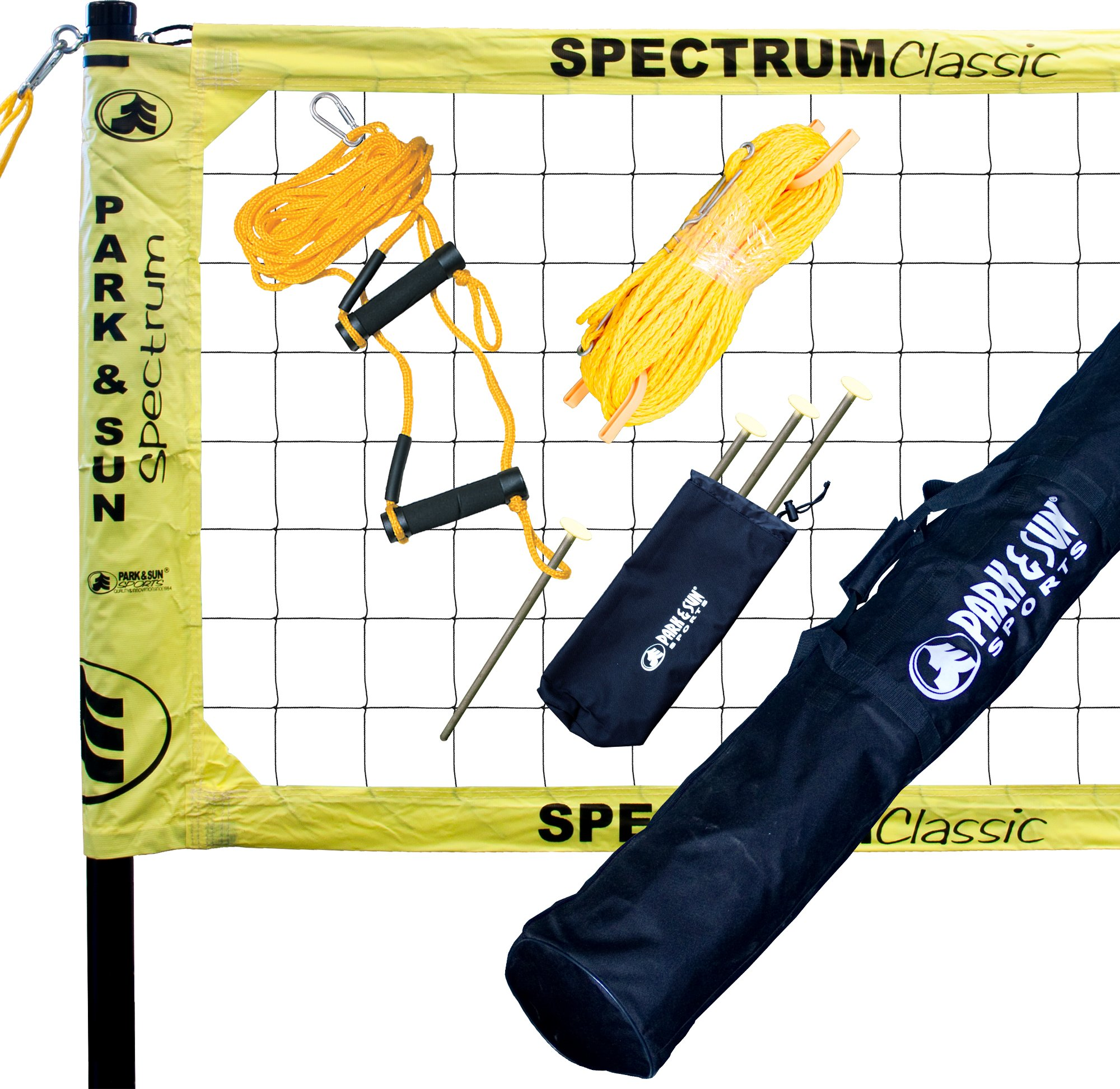 Park & Sun Sports Spectrum Classic: Portable Professional Outdoor Volleyball Net System, Yellow