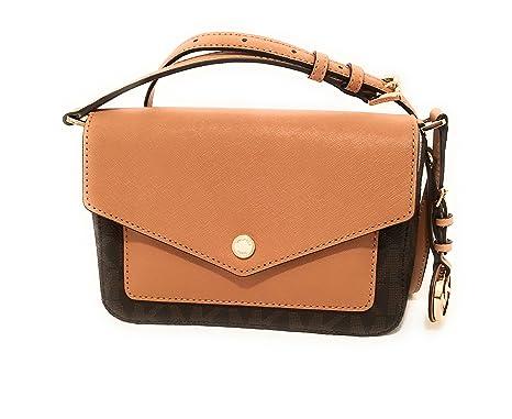 baeba3933ff84e Michael Kors Womens Greenwich Small Flap Crossbody Bag Brown / Peanut Color