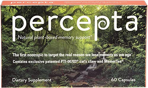 Percepta Natural-Plant Based Memory Support – All Natural Nootropic – Memory, Focus, Clarity – 30 Day Supply