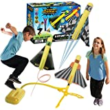 The Original Stomp Rocket Stunt Planes Launcher - 3 Foam Planes and Toy Air Rocket Launcher - Outdoor Rocket STEM Gifts for B