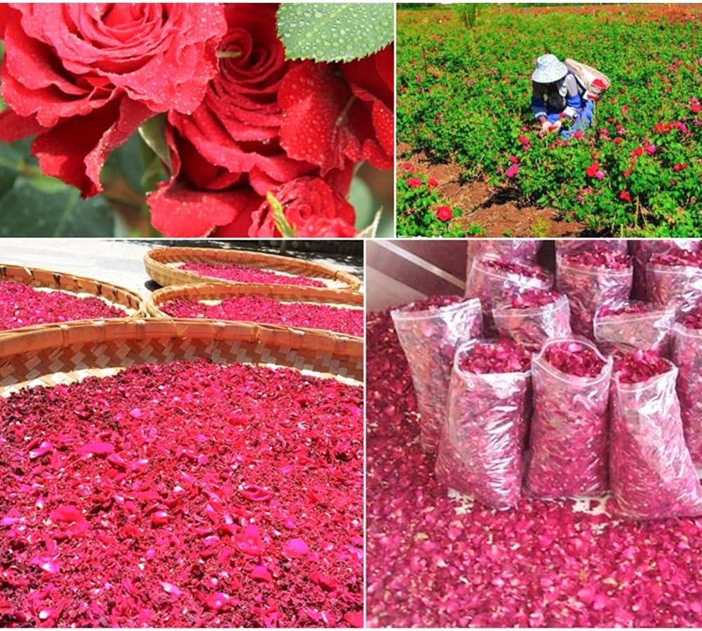 50g Getrocknete Rosenblüten Natürliche Trockene BlütenblattSpaWhiteningDusG3D