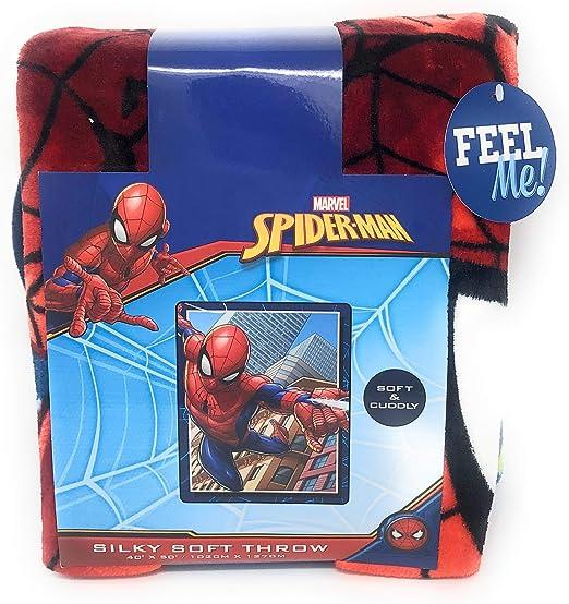 Marvel Cinematic Universe Spiderman Fleece Throw Blanket 40in x 50in