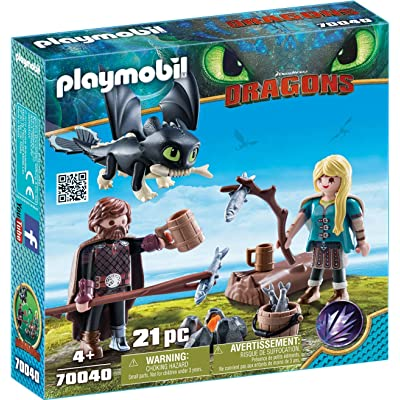 PLAYMOBIL How to Train Your Dragon III Hiccup & Astrid with Baby Dragon: Toys & Games
