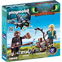 PLAYMOBIL 70040 Hiccup and Astrid with Baby Dragon,Multicolor