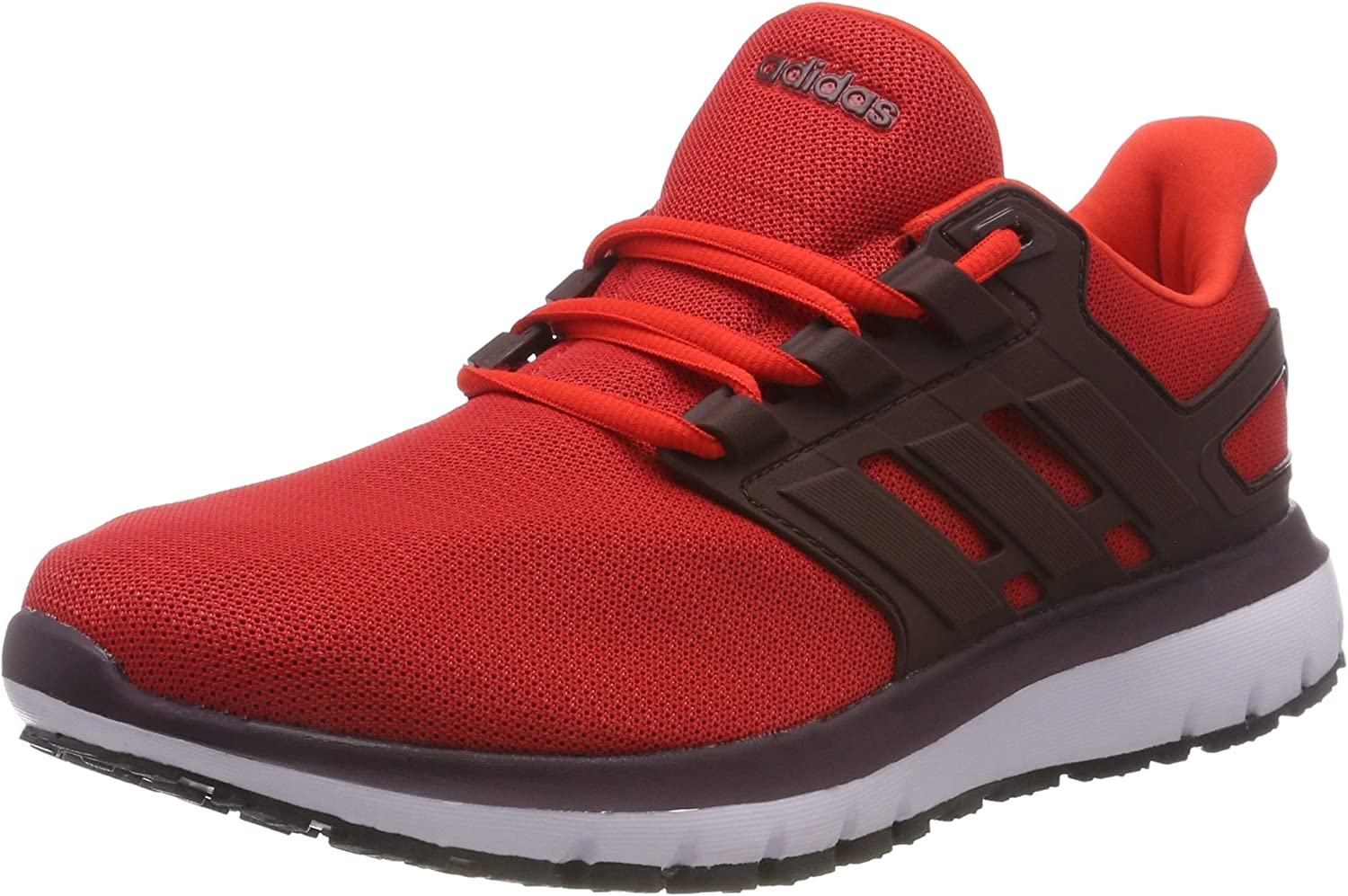 adidas Energy Cloud 2 Mens Neutral Running Trainer Shoe Red/Black