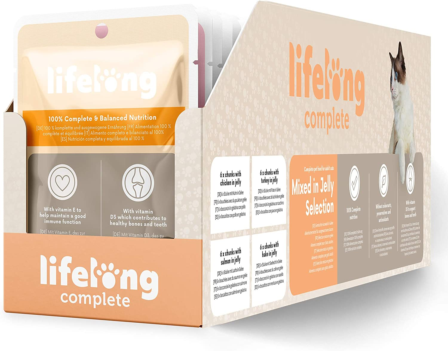 Marca Amazon - Lifelong Alimento completo para gatos adultos ...