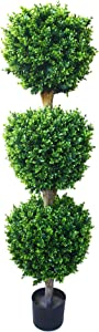 Pure Garden 50-10007 Hedyotis Triple Ball Tree, 5-Feet, 15x15, Green