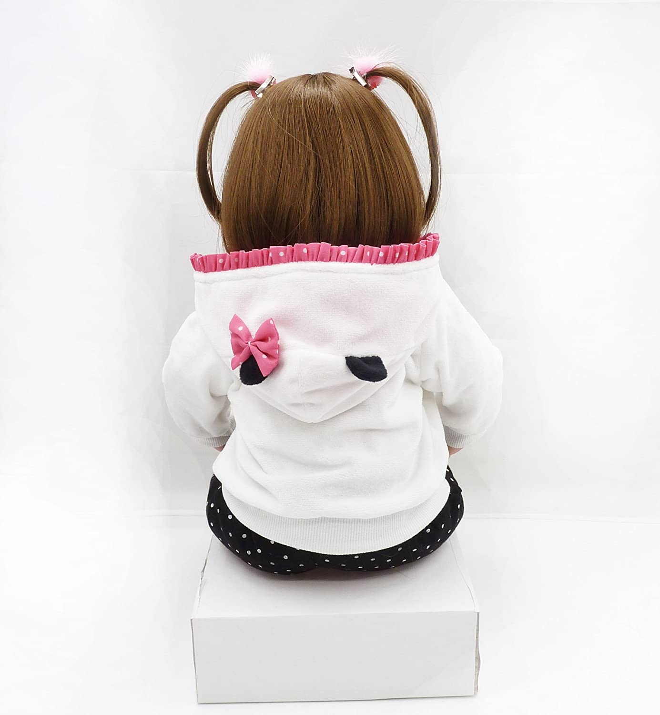 OCSDOLL Reborn Baby Dolls Handmade Soft Silicone Babies Realistic Toddler Dolls Girl Gift (24inch Doll)