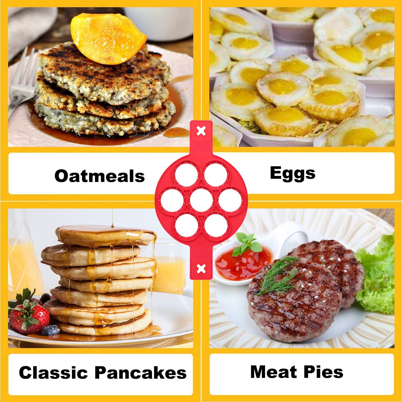 Amazon.com: Molde de silicona para pancakes – Moldes de ...