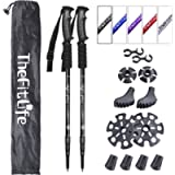 TheFitLife Nordic Walking Trekking Poles - 2 Pack with Antishock and Quick Lock System, Telescopic, Collapsible…
