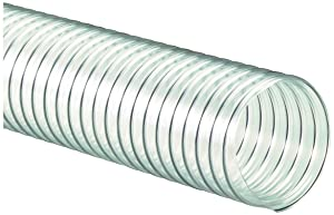 "Flexaust 8171080025 R-4 PVC Flexible Hose, 160 Degrees F, 25' Length, 8"" ID"
