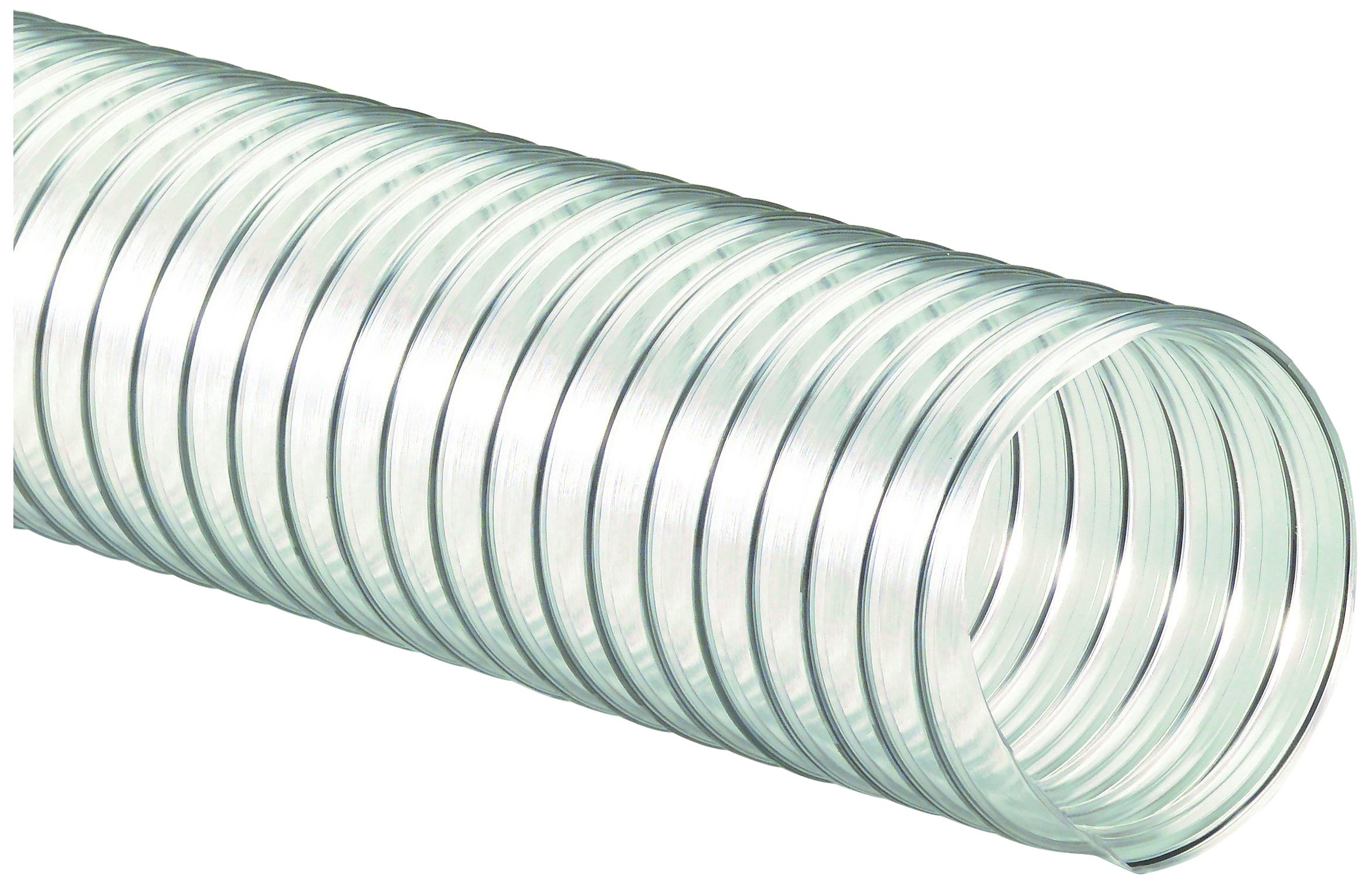 Flexaust 8171100025 R-4 PVC Flexible Hose, 160 degrees F, 25' Length, 10'' ID