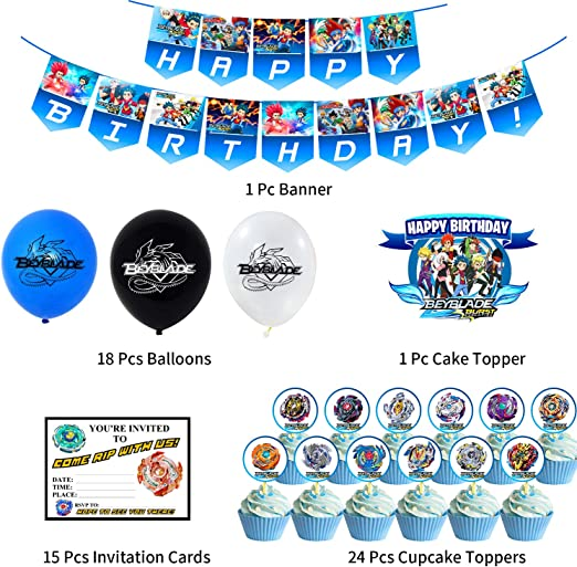 Cake Topper 15 Invitations Nelton Birthday Party Supplies For Five Nights at Freddys Includes Banner 24 Cupcake Toppers 18 Balloons