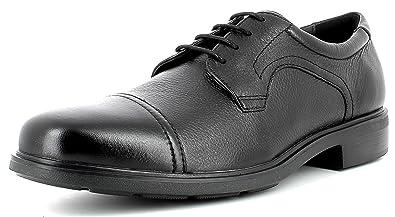 Geox U64R2C Dublin Modisch Eleganter Herren Business Schuh, Anzugschuh, Schnürhalbschuh, Derbyschnürung, Vorderkappe, Gummisohle