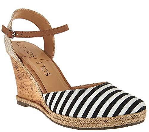 14e41a6864c01 Sole Society Women's Closed Toe Wedges W/Ankle Strap