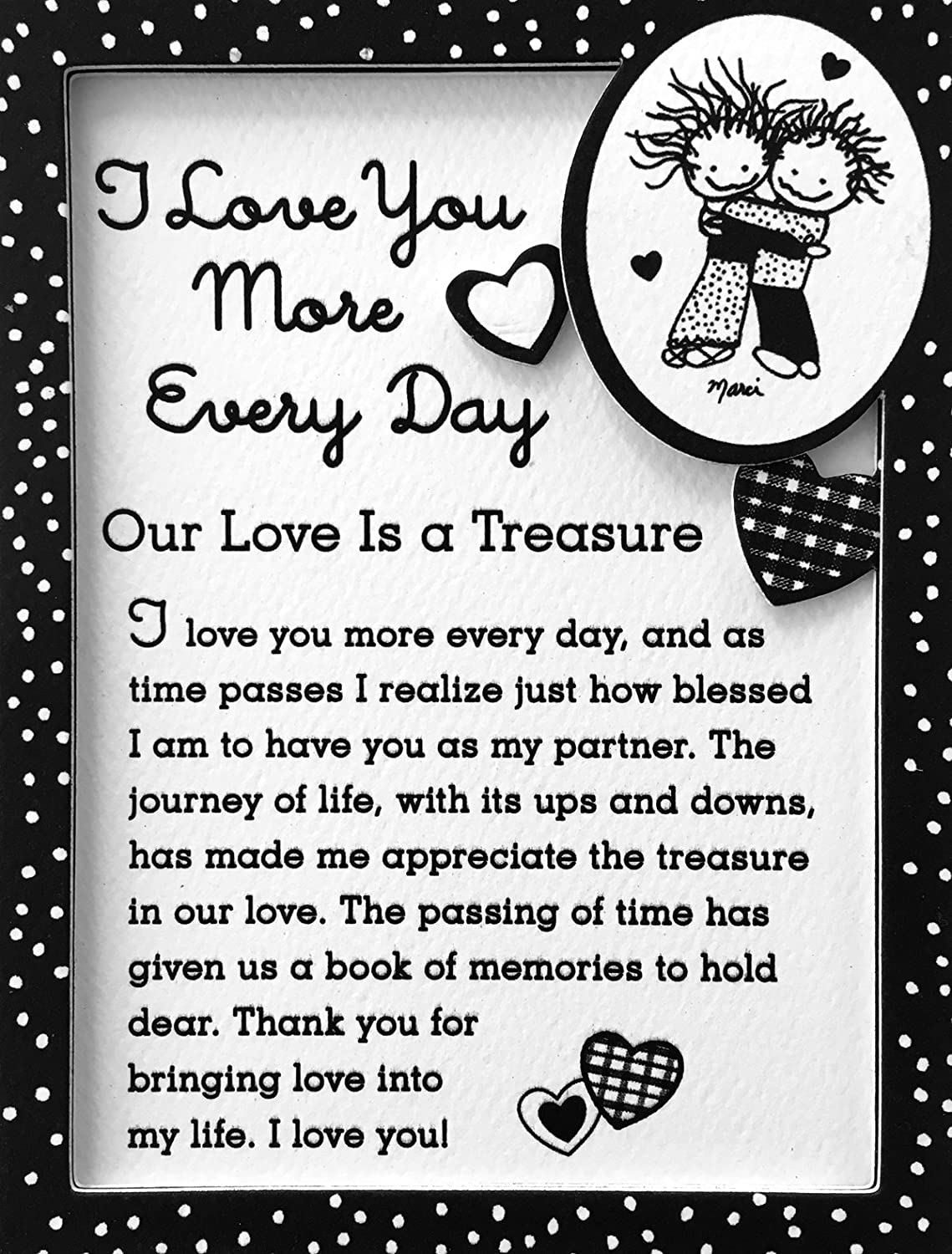 "Miniature Easel Print with Magnet: I Love You More Every Day, 3.6"" x 4.9"""