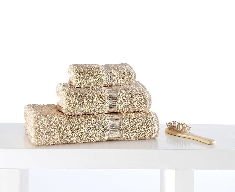 beige toalla de invitados Juego de toallas de algod/ón turco de Happy 30/cm x 50/cm 30cm x 50cm. algod/ón