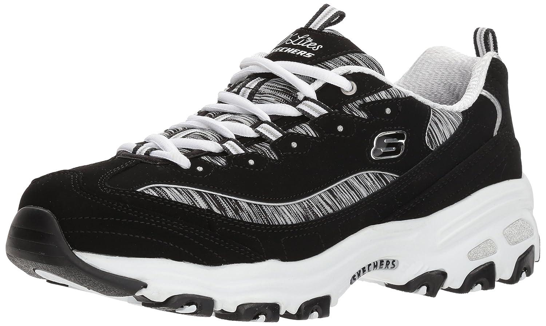 Skechers Women's DLites Interlude Sneaker B074FNMJZC 6 B(M) US|Black/White