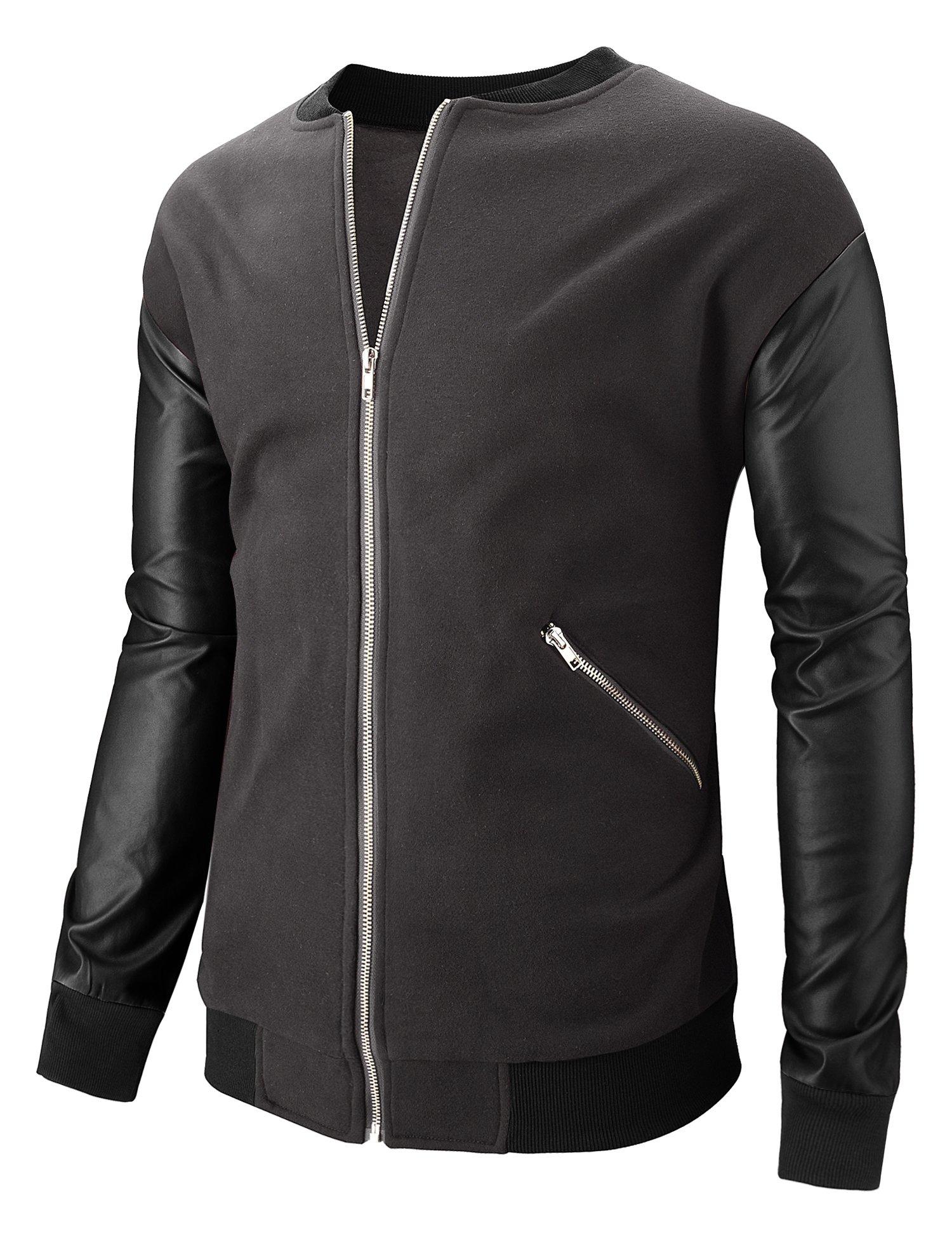 Hasuit Mens Baseball Jacket Varsity Baseball Cotton Jacket Letterman jacket