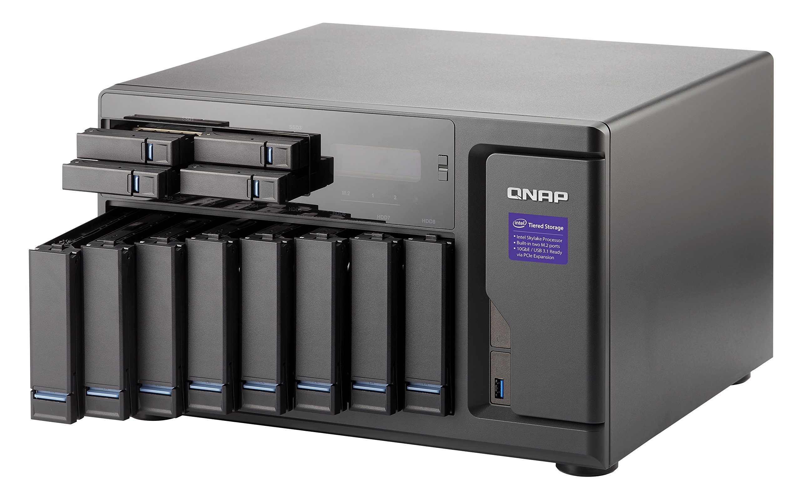 Qnap TVS-1282-i7-64G-US High Performance 12 bay (8+4) NAS/iSCSI IP-SAN, Intel Skylake Core i7-6700 3.4 GHz Quad Core, 32GB RAM, 10G-ready by QNAP (Image #2)