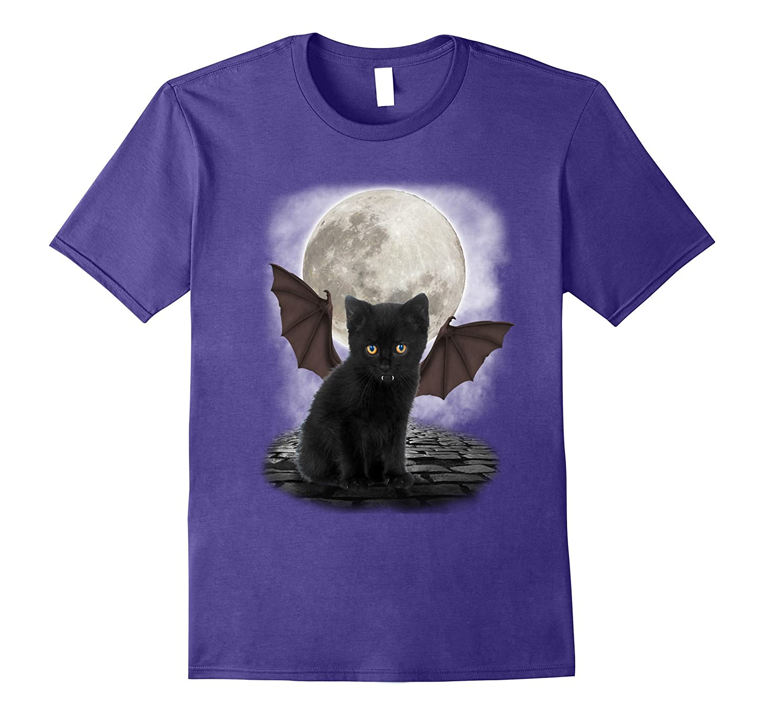 Gothic Bat Cat - Funny Cat Lover T-Shirt-Art