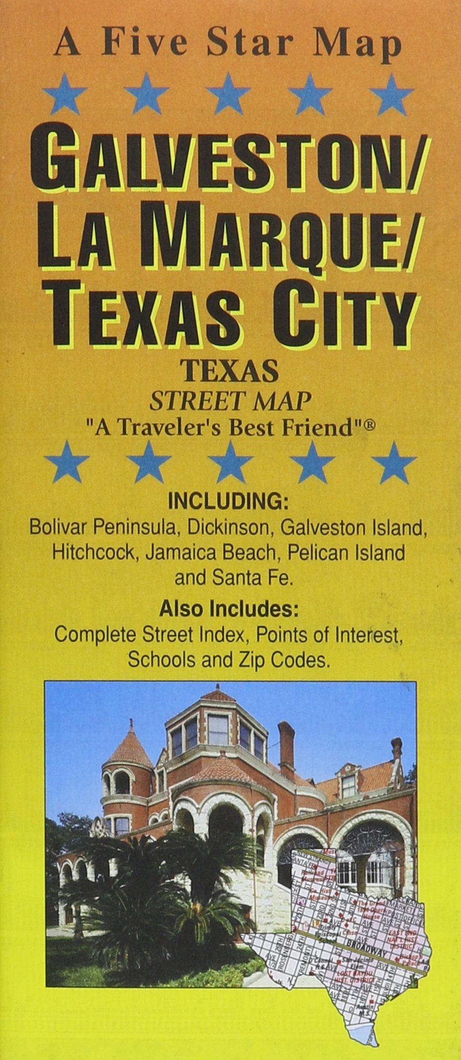 Galveston Map Of Texas.Galveston La Marque Texas City Tx Street Map Five Star Maps