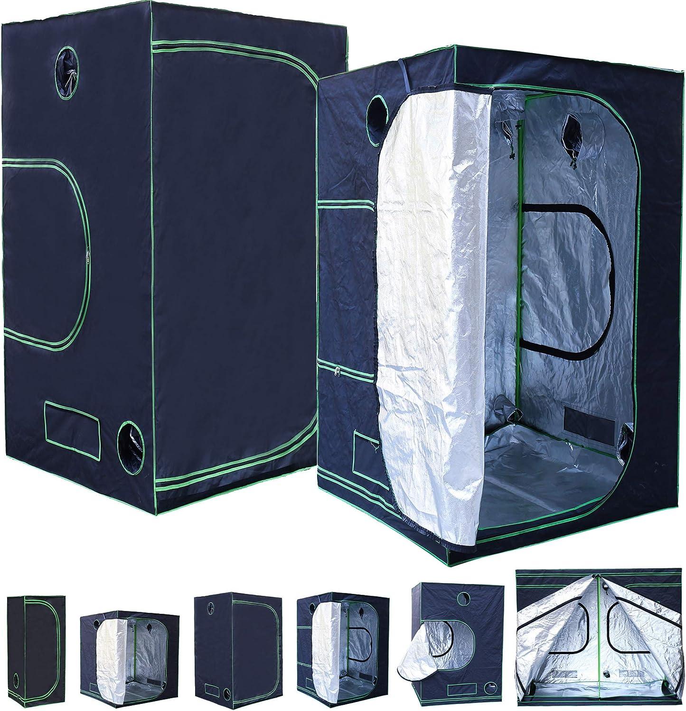 schwarz gr/ün Rapid Teck/® Grow Box 40 x 40 x 160 cm Indoor Growbox Growroom Growschrank Darkroom Pflanzenzelt Gew/ächshaus Zuchtzelt Growzelt Home Grow Tent