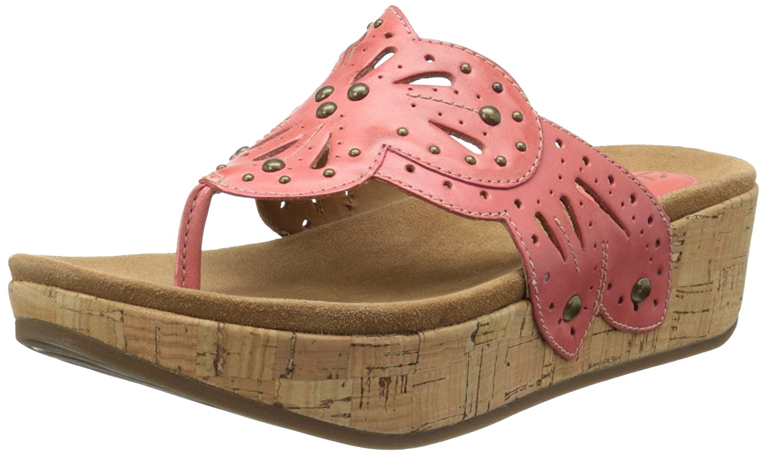 CLARKS Women's Palima Palm Wedge Sandal B00MUBWLA4 Parent