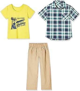 8780c41f4 Amazon.com  Sprout Star 3-Pcs Set Cotton Green Check Shirt