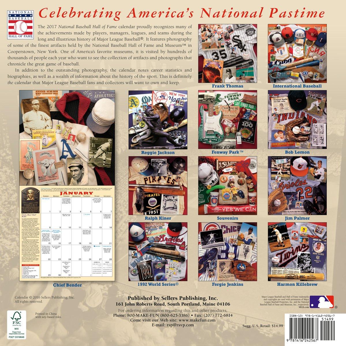 The National Baseball Hall of Fame 2017 Wall Calendar: National Baseball  Hall of Fame: 9781416242567: Amazon.com: Books