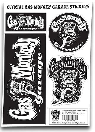 Gas Monkey Garage Aufkleber Set Gmg Monkey Logo Nue