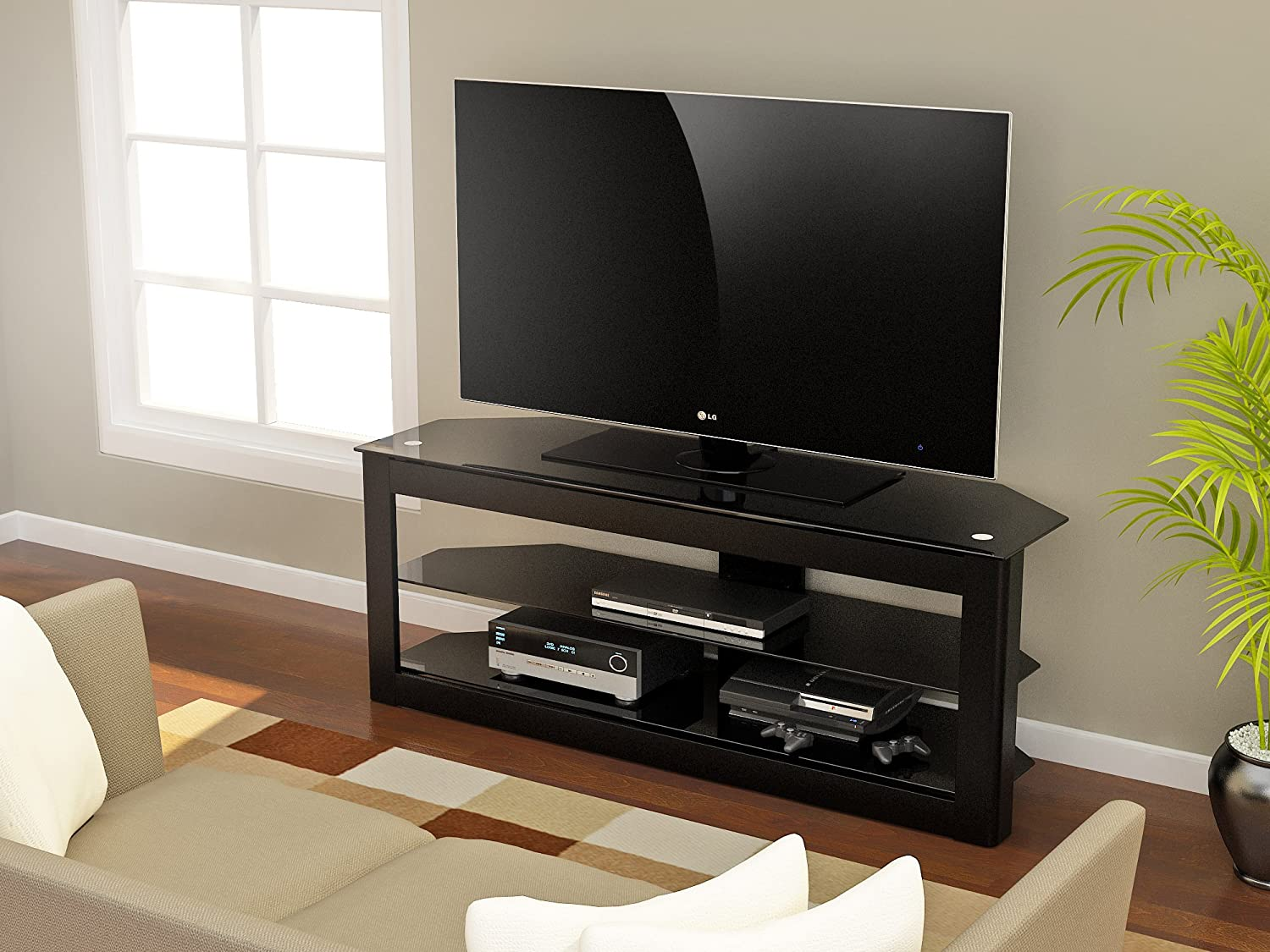 Amazon.com: Z-Line Designs Maxine TV Stand, 40-Inch, Black: Kitchen ...
