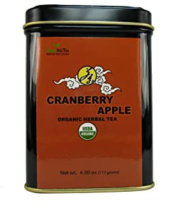 Organic Cranberry Apple Tea, Storehouse of benefits, can be either taken in tea or in a juicy form – 4 Oz Tea Tin