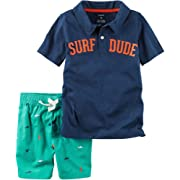 Carter's Baby Boys' Polo And Shark Shorts Set 6 Months