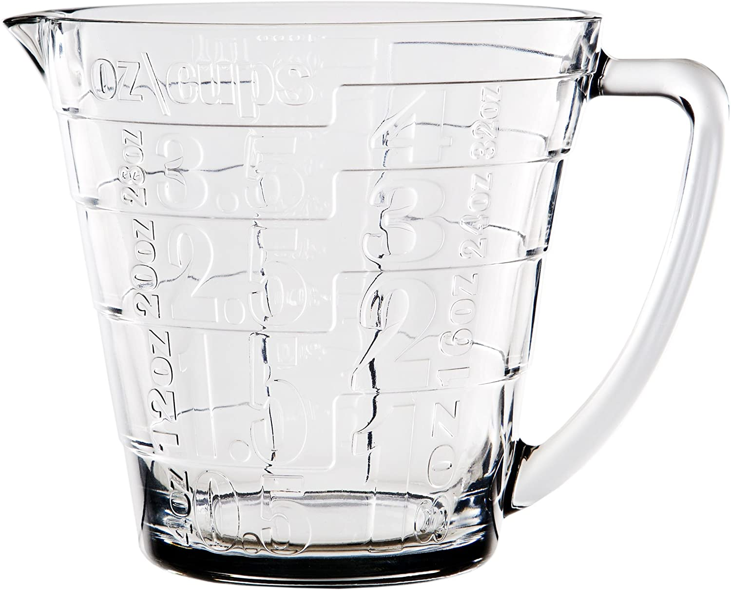 Palais Glassware Glass Liquid Measuring Cup - Up to 4 Cups (Clear)