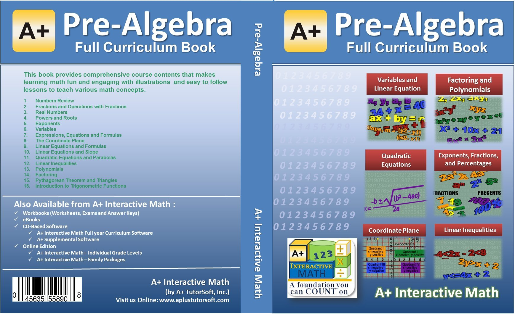 Pre-Algebra (7th or 8th Grade) Math Textbook - 117 Lessons (504 ...