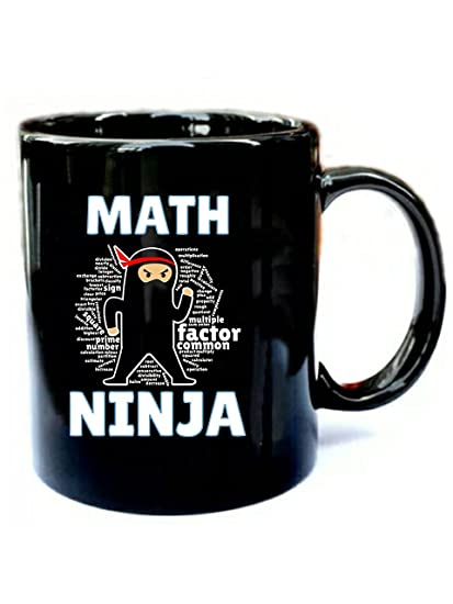Amazon.com: Math Ninja - Cool Maths Ninja - Funny Gift Black ...