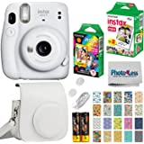 Fujifilm Instax Mini 11 Instant Camera - Ice White (16654798) + Fujifilm Instax Mini Twin Pack Instant Film (16437396…