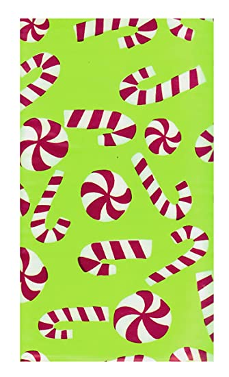Holiday Time Candy Cane Vinyl Tablecloth 60u0026quot; X 84u0026quot; Rectangle