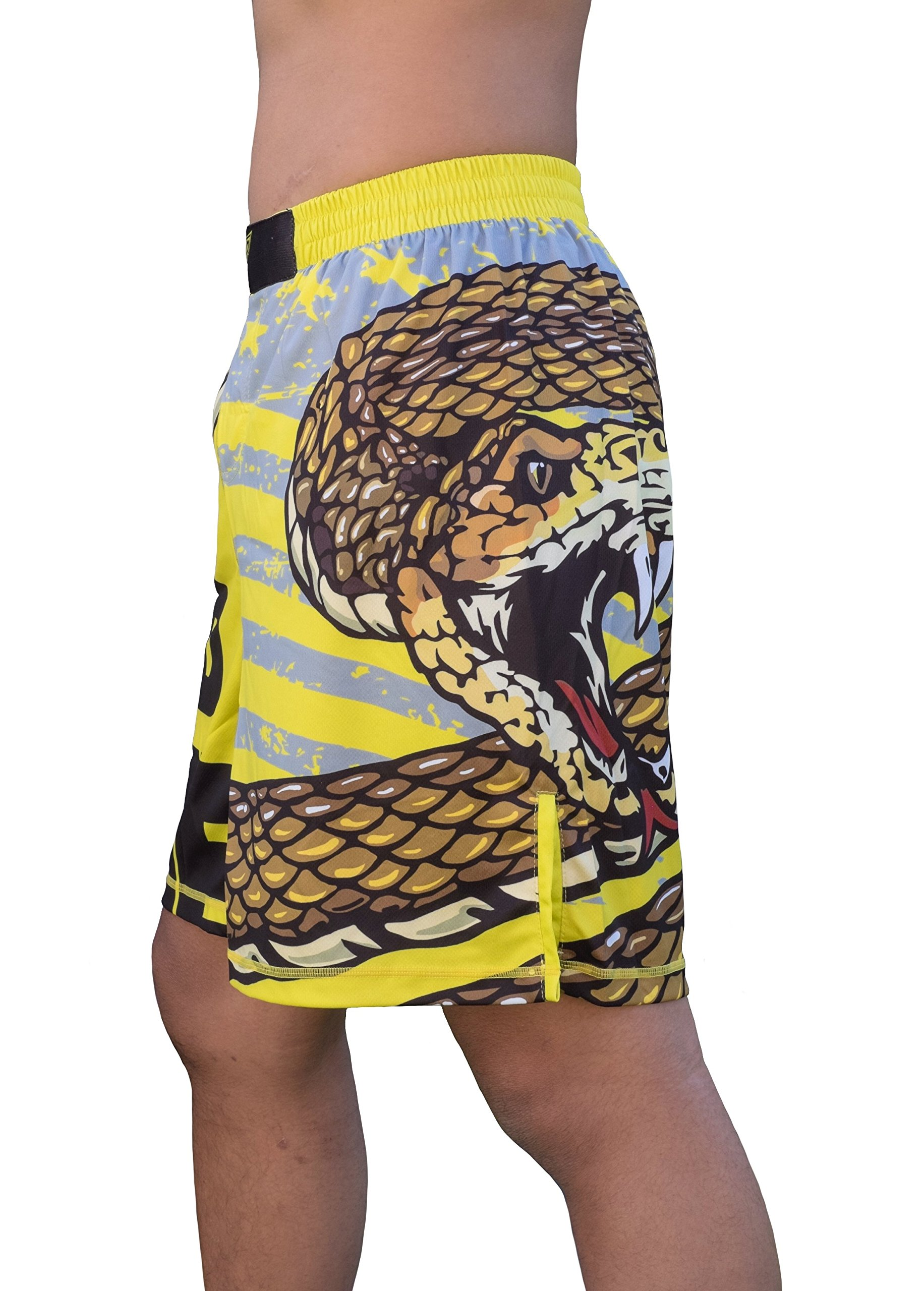 TRI-TITANS Don't Tread on Me! MMA Wrestling Jiu-Jitsu training Fight Shorts - Youths & Mens(Youth M: waist 22''-24'') by TRI-TITANS
